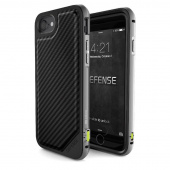 Чехол iPhone 7 Накладка X-Doria Defense Lux Black Carbon