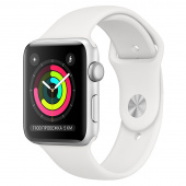 Apple Watch Sport 3 (42mm) Серебристый, Белый Ростест