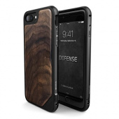 Чехол iPhone 7 Накладка X-Doria Defense Lux Walnut Wood