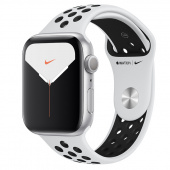 Apple Watch Sport 5 Nike+ (44mm) Серебристый, Чистая Платина/Чёрный Ростест