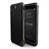 Чехол iPhone 7 Накладка X-Doria Defense Lux Black Leather