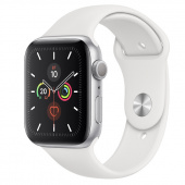 Apple Watch Sport 5 (44mm) Серебристый, Белый Ростест