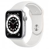 Apple Watch Sport 6 (44mm) Серебристый, Белый Ростест